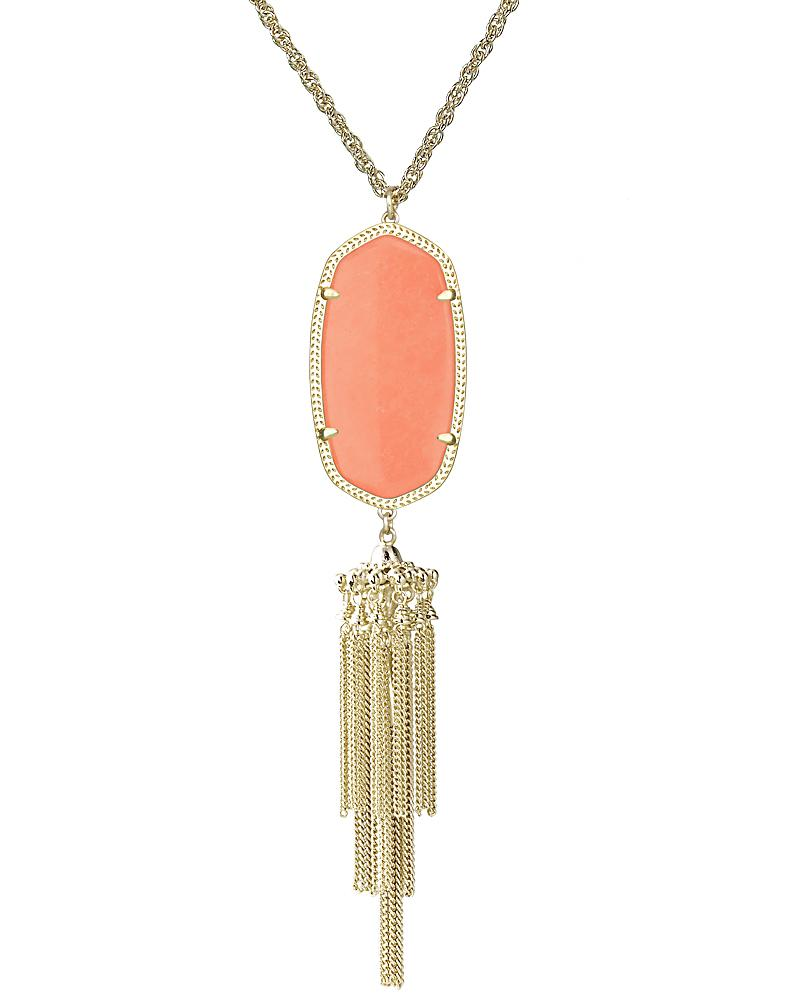 Rayne Necklace in Coral
