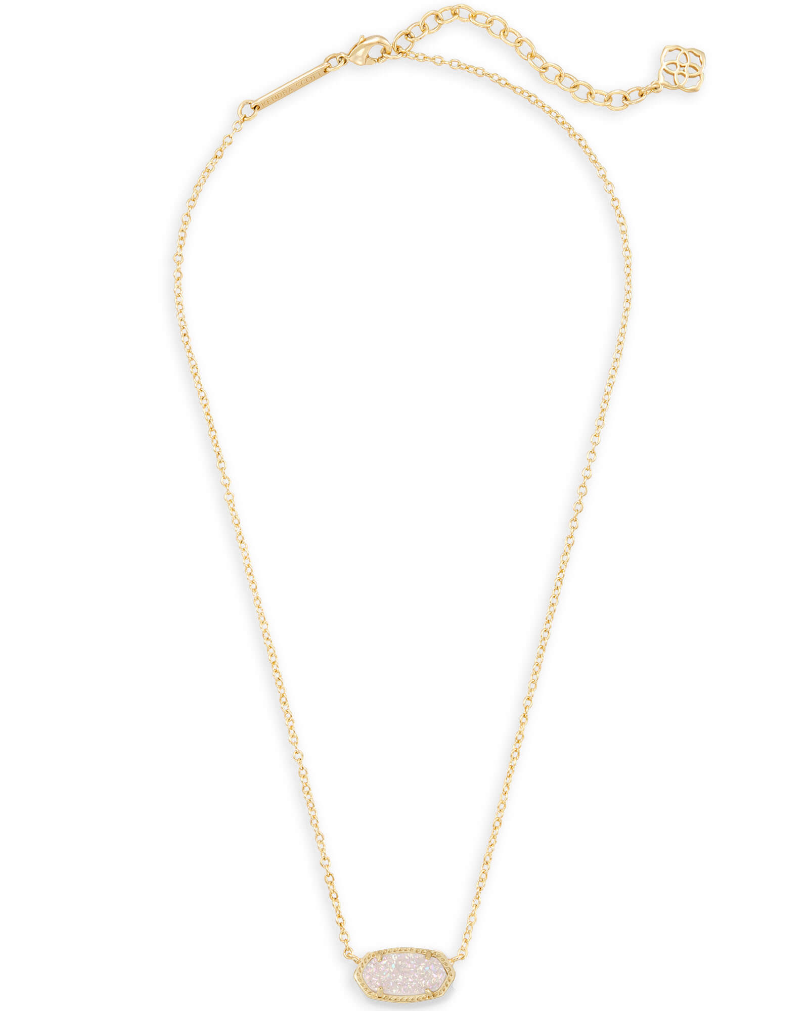 4a3b6700e48 ... Elisa Gold Pendant Necklace in Iridescent Drusy ...