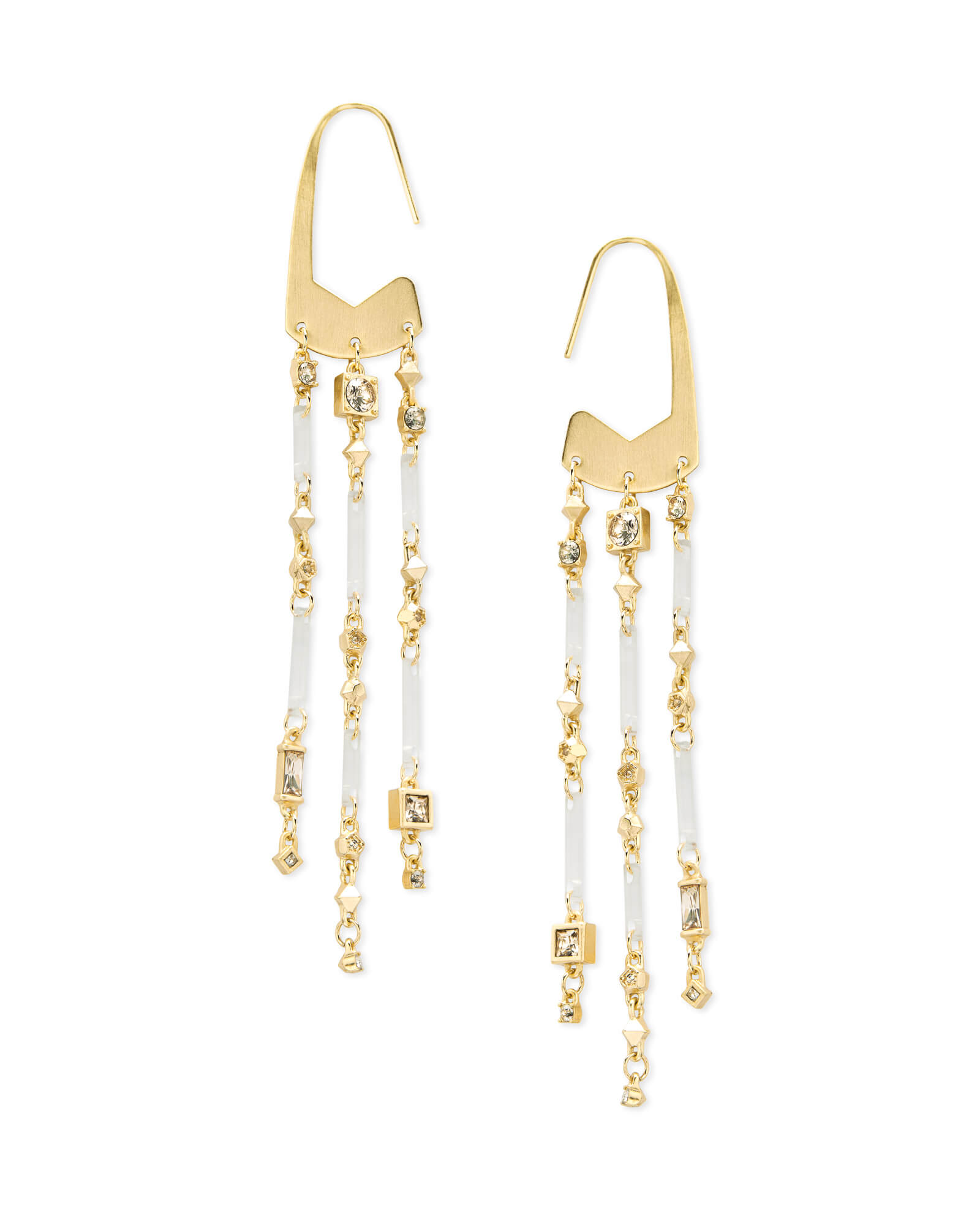 Corza Gold Statement Earrings in Smoky Mix