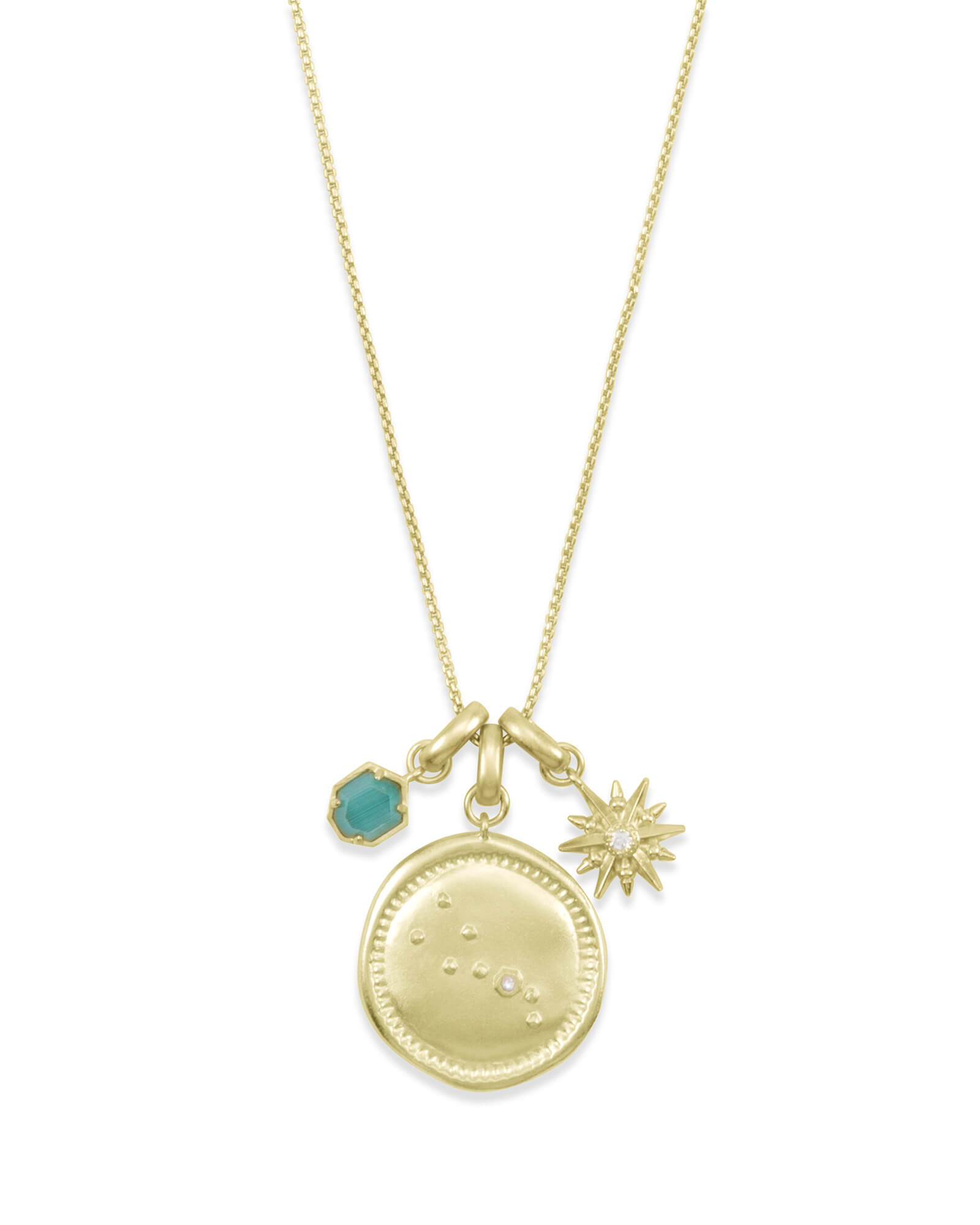 deaf7d16291974 May Taurus Charm Necklace Set in Gold | Kendra Scott