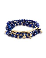 Supak Beaded Bracelet Set in Lapis
