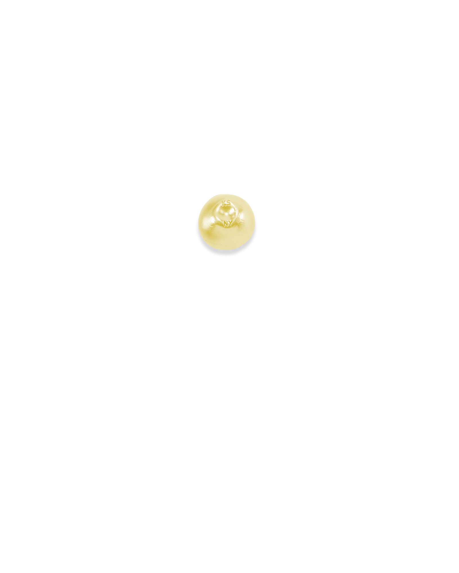 New York Apple Charm in Gold