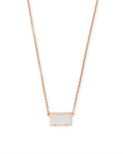 Pattie Rose Gold Pendant Necklace In Ivory Pearl