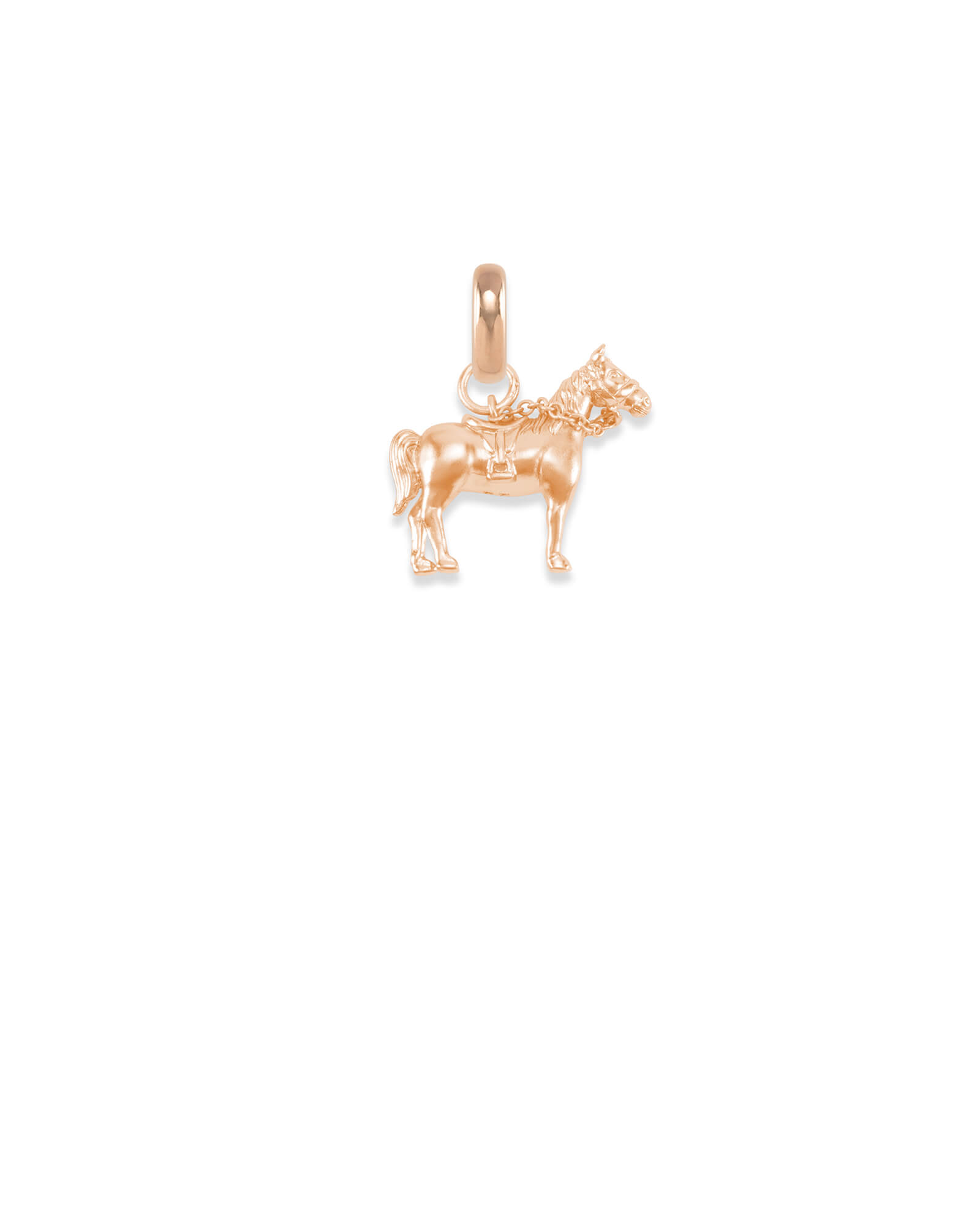 Kentucky Race Horse Charm in Rose Gold