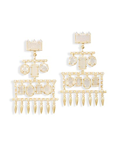 Emmylou Statement Earrings in Gold