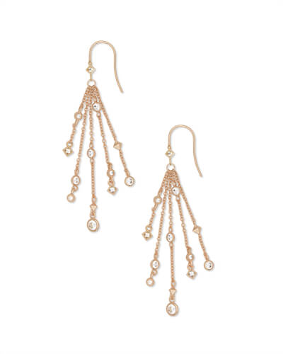 Wilma Drop Earrings in Rose Gold