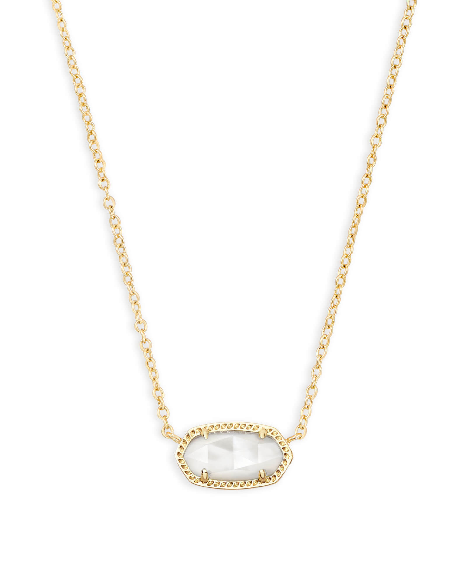 Kendra Scott Elisa Pendant Necklace in Clear and Gold Plated