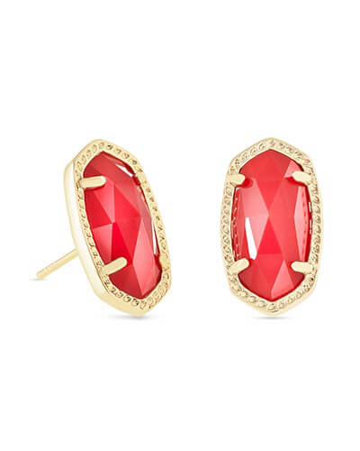 Ellie Stud Earrings in Bright Red