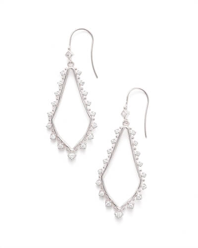 Bea Drop Earrings in Silver