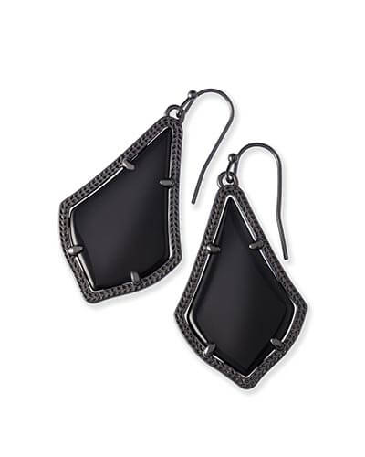 Alex Gunmetal Earrings in Black