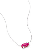 Elisa Sterling Silver Pendant Necklace in Pink Quartzite