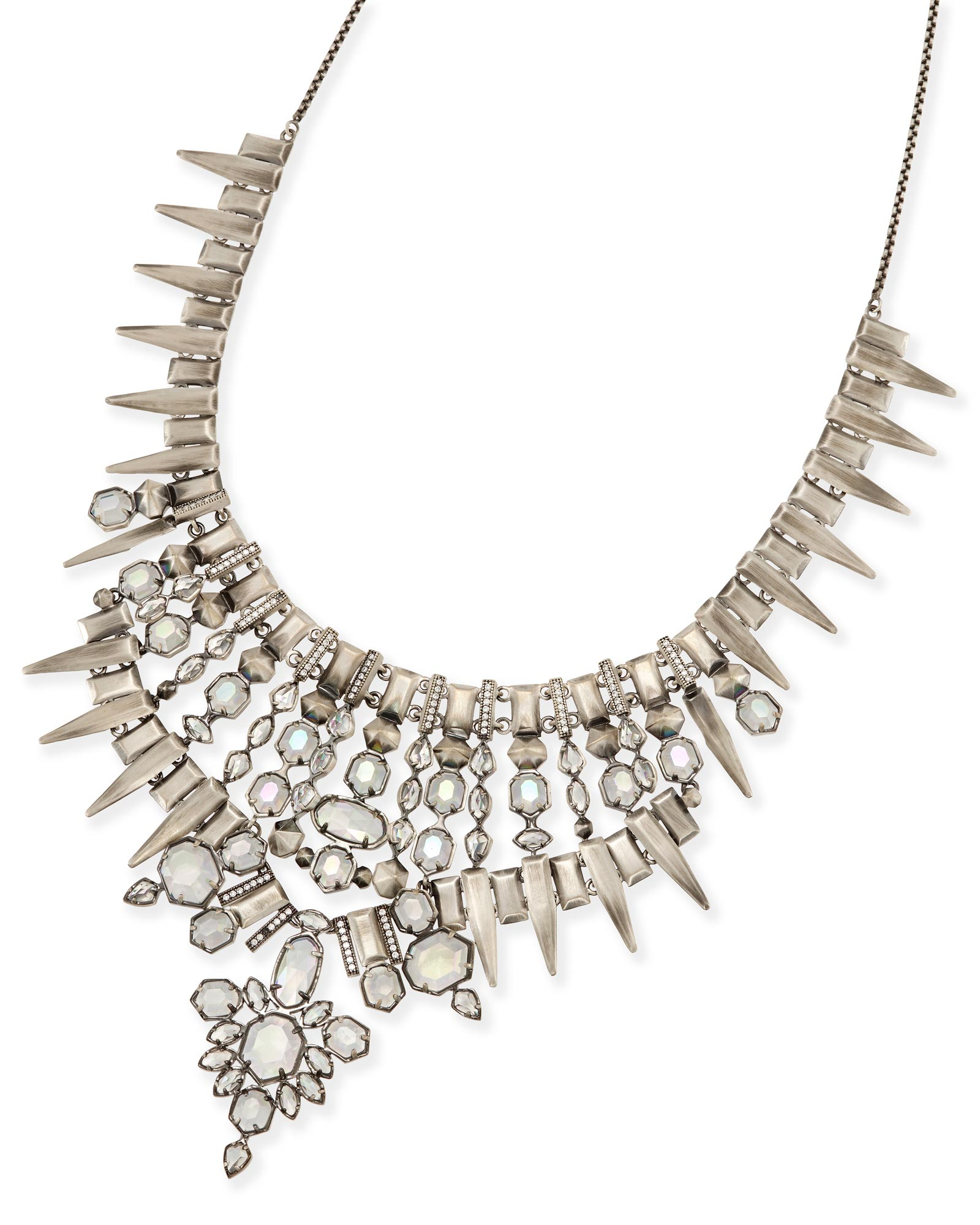 Seraphina Statement Necklace in Antique Silver