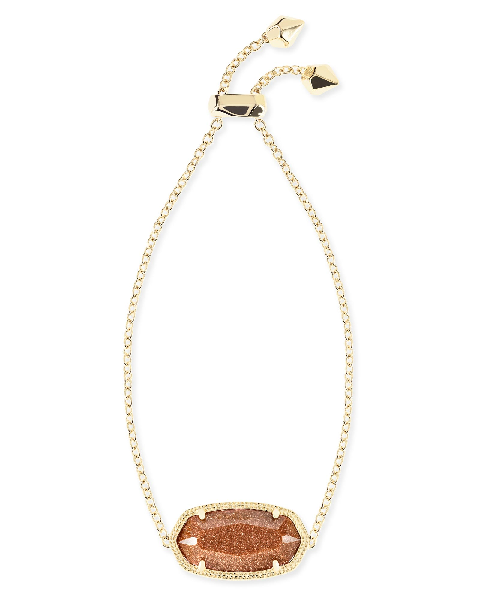 Daisy Adjustable Chain Bracelet in Goldstone