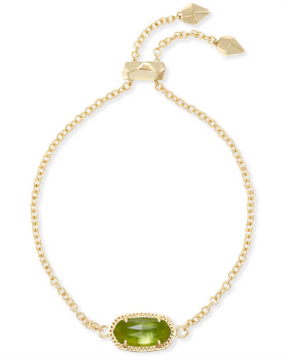 Elaina Adjustable Chain Bracelet in Peridot Illusion