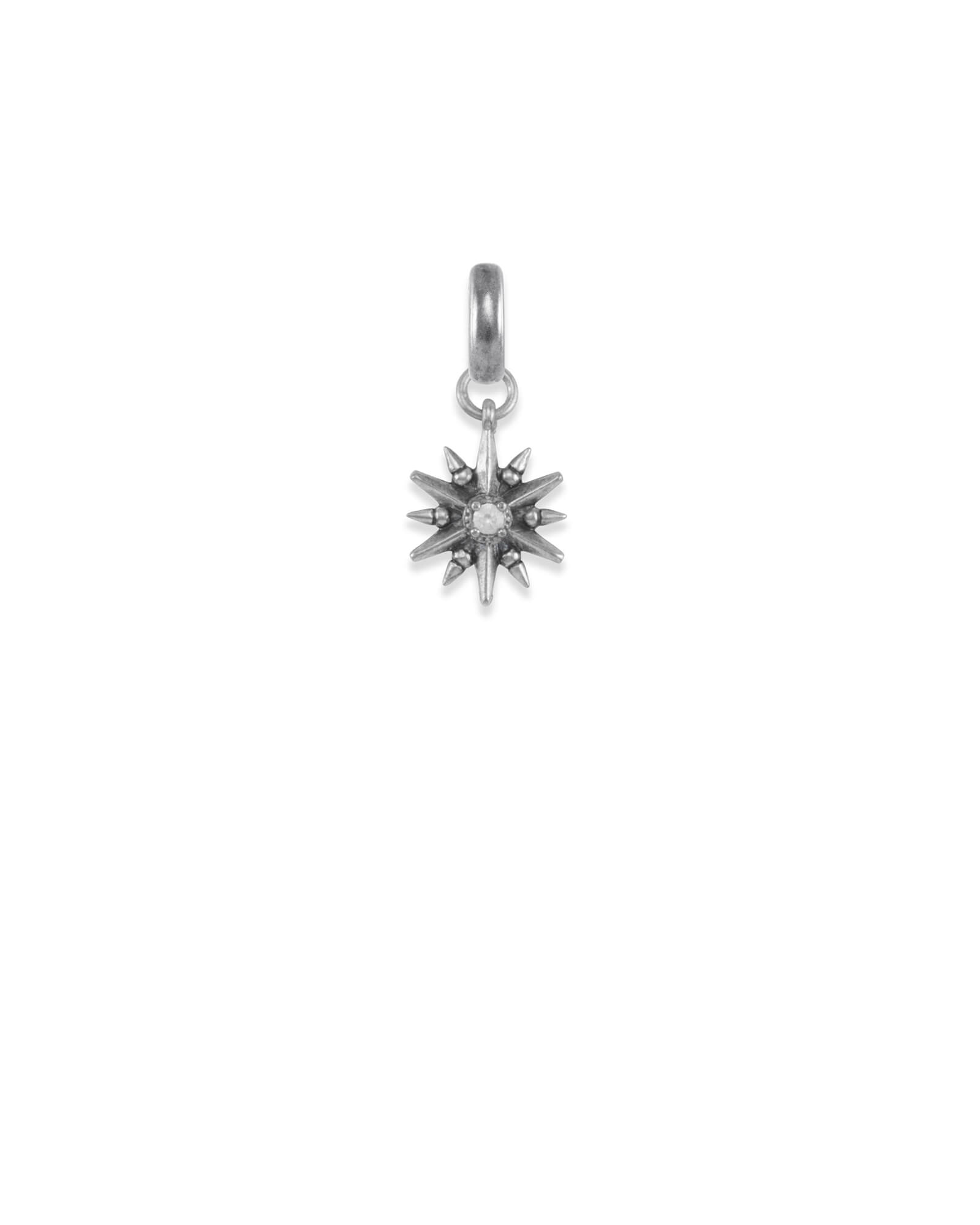 Star Charm in Vintage Silver