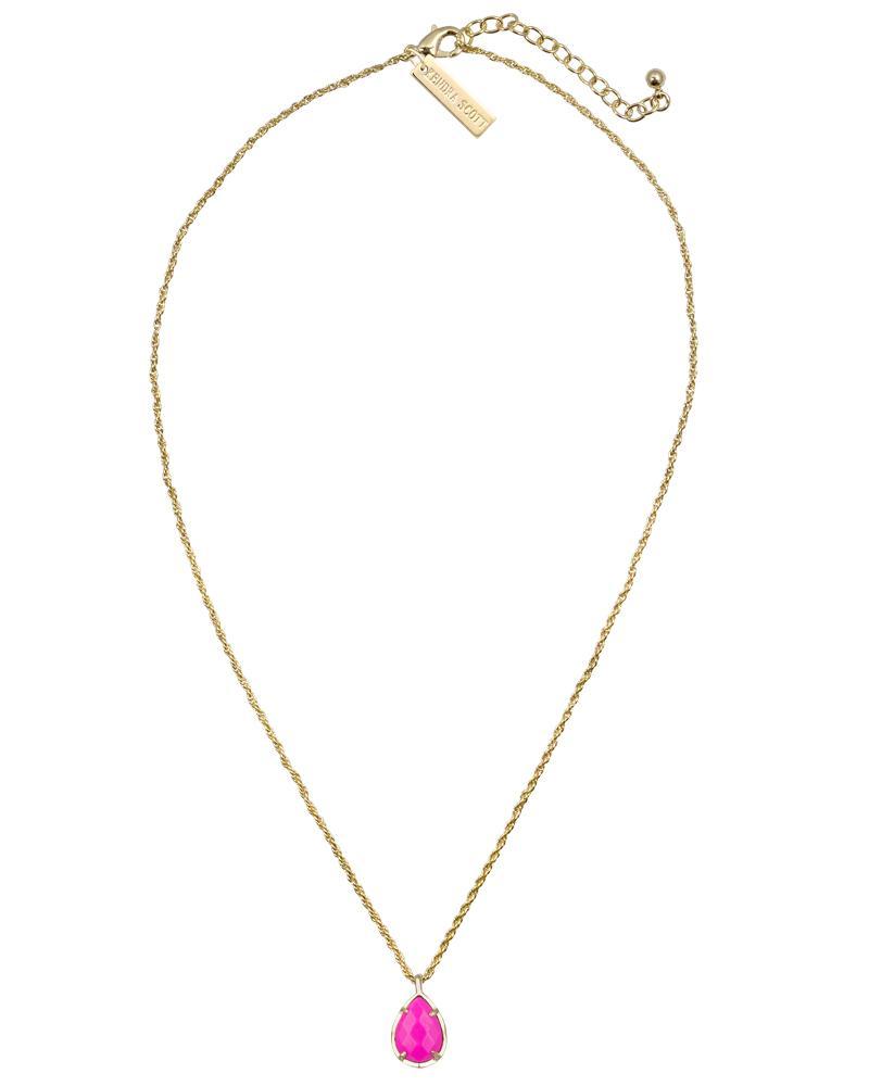 26076d2581dd1f Kiri Gold Pendant Necklace in Pink Magenta | Kendra Scott