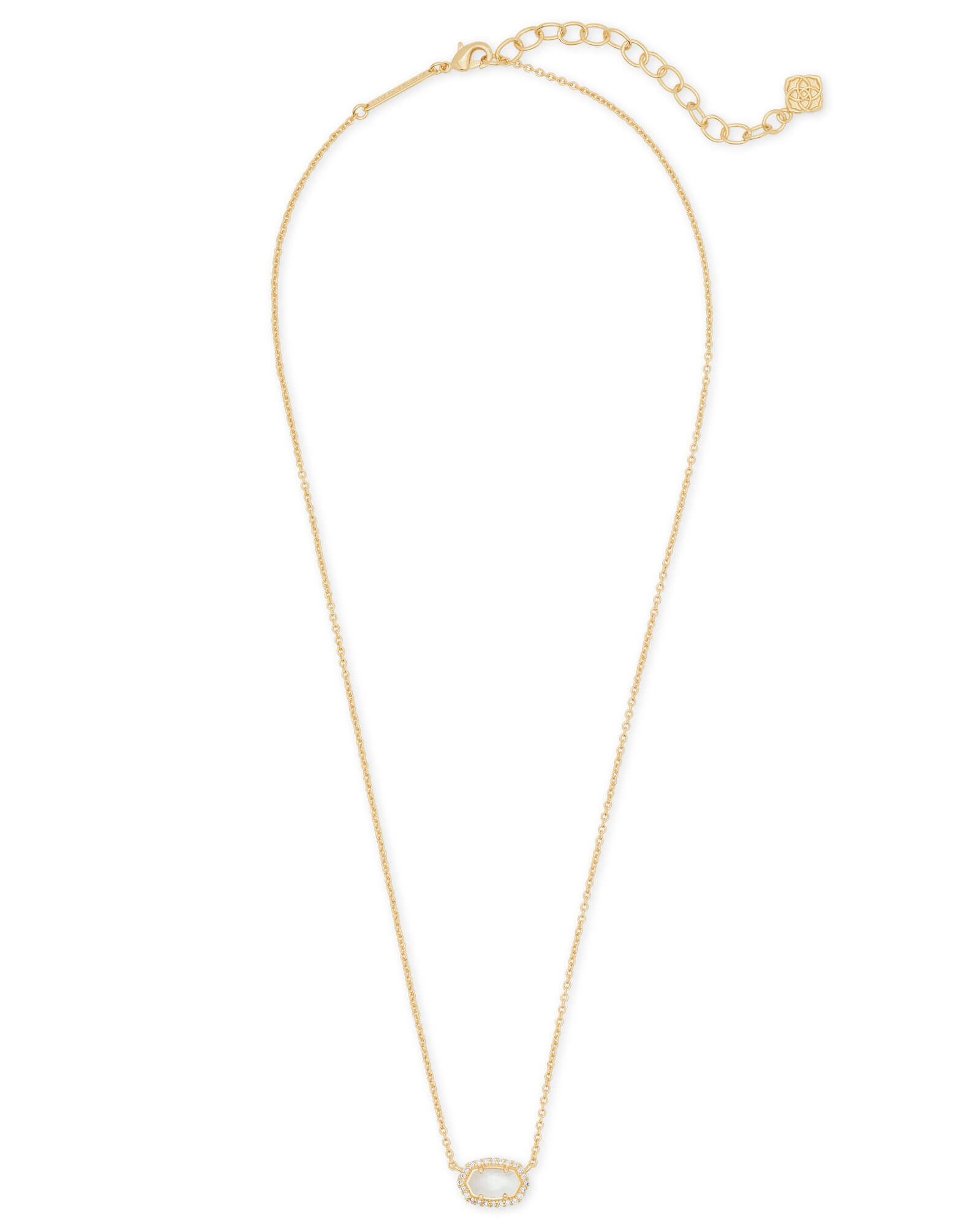 Chelsea Gold Pendant Necklace in Ivory Pearl