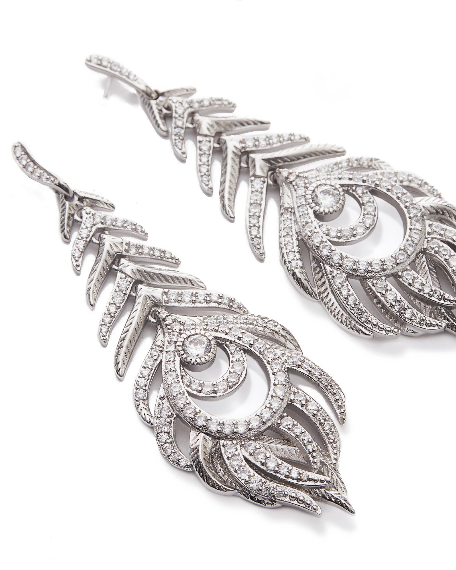 c218eb845 Elettra Statement Earrings in Silver; Elettra Statement Earrings in Silver  ...