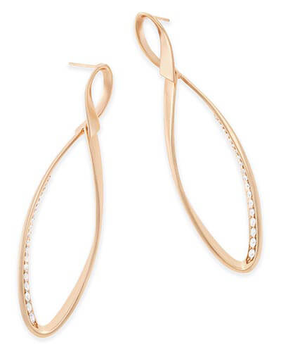 Raquel Statement Earrings in Rose Gold