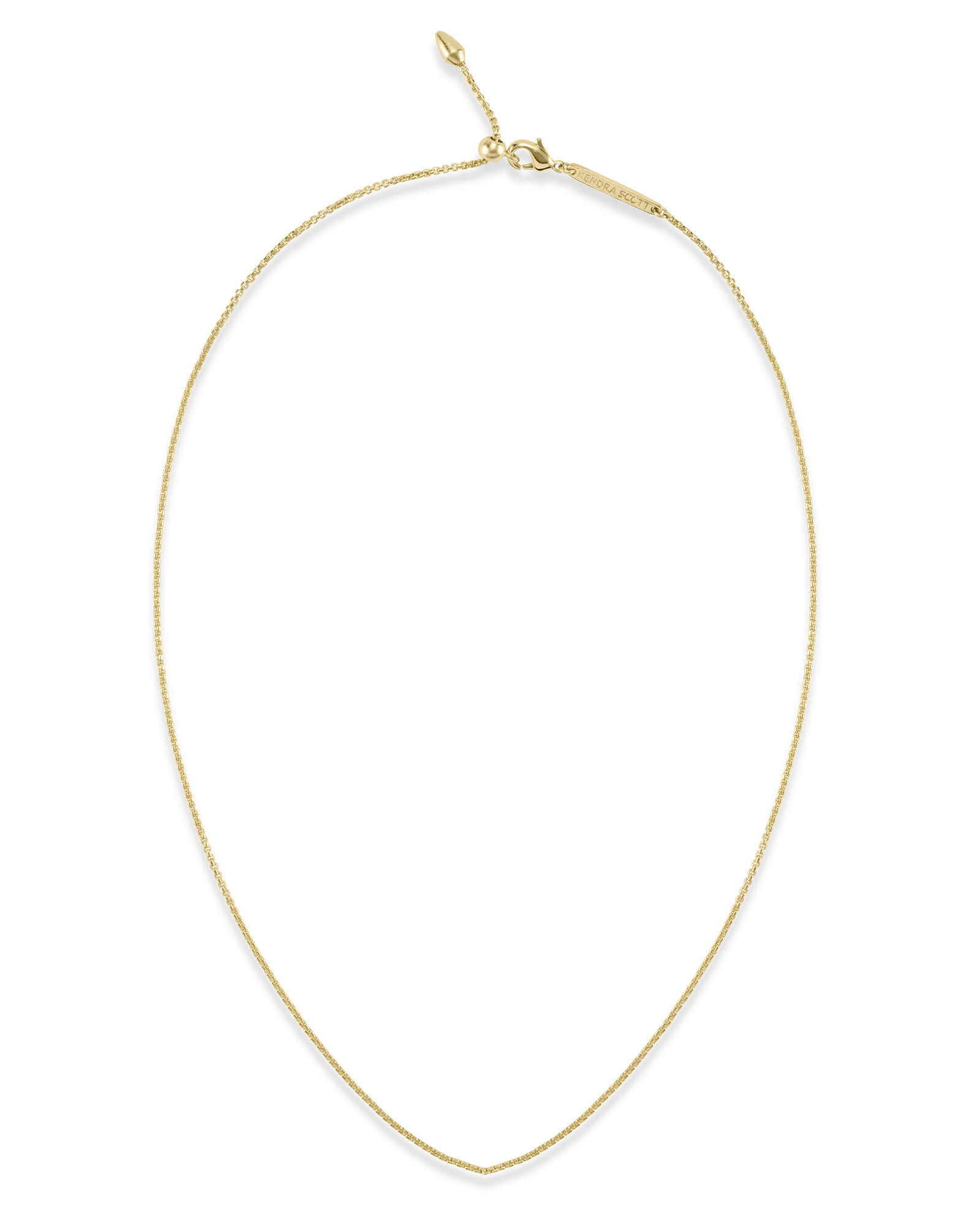 Petite Thin Adjustable Chain Necklace in Gold