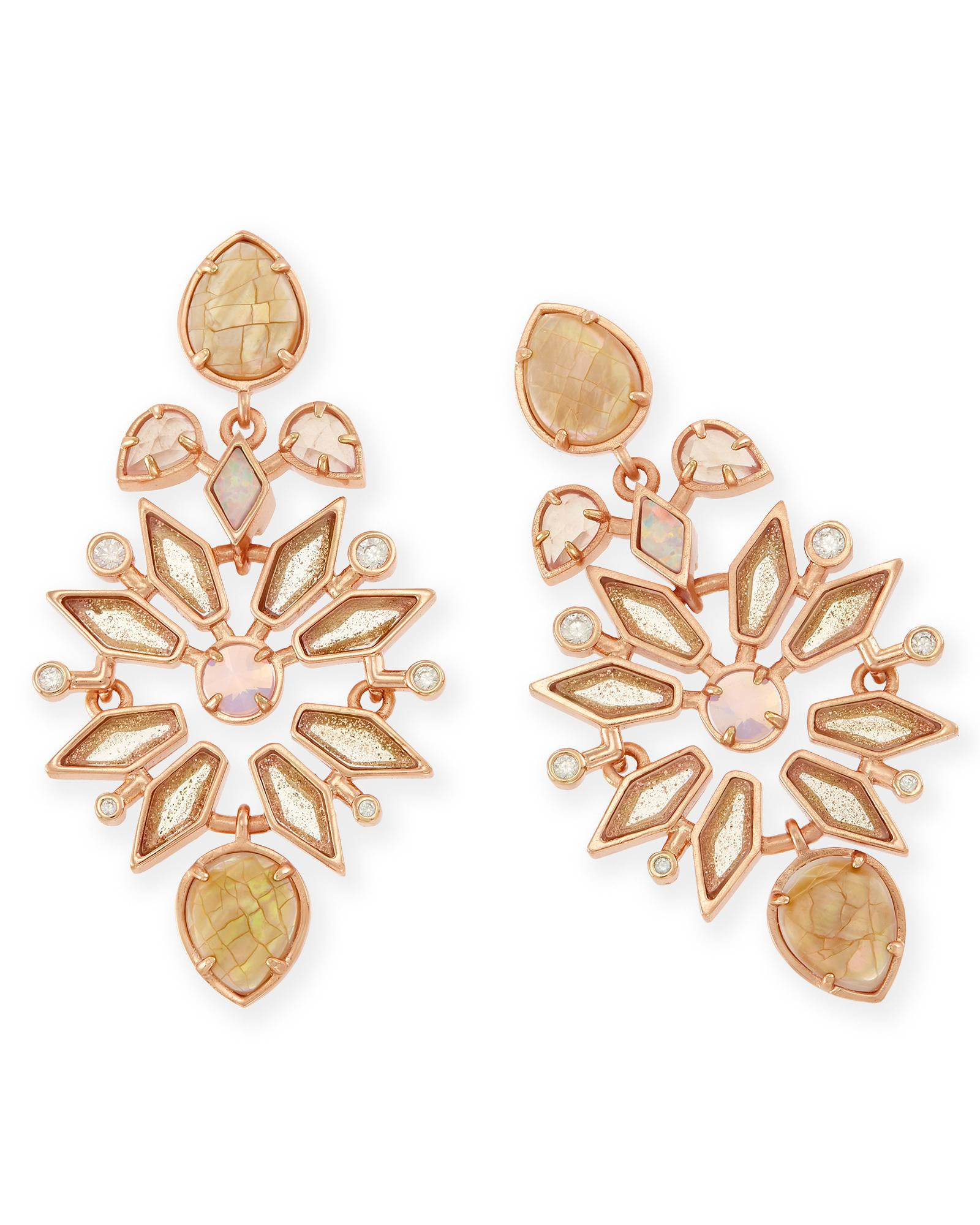 Aurilla statement earrings in rose zellige kendra scott aurilla statement earrings in rose zellige arubaitofo Image collections