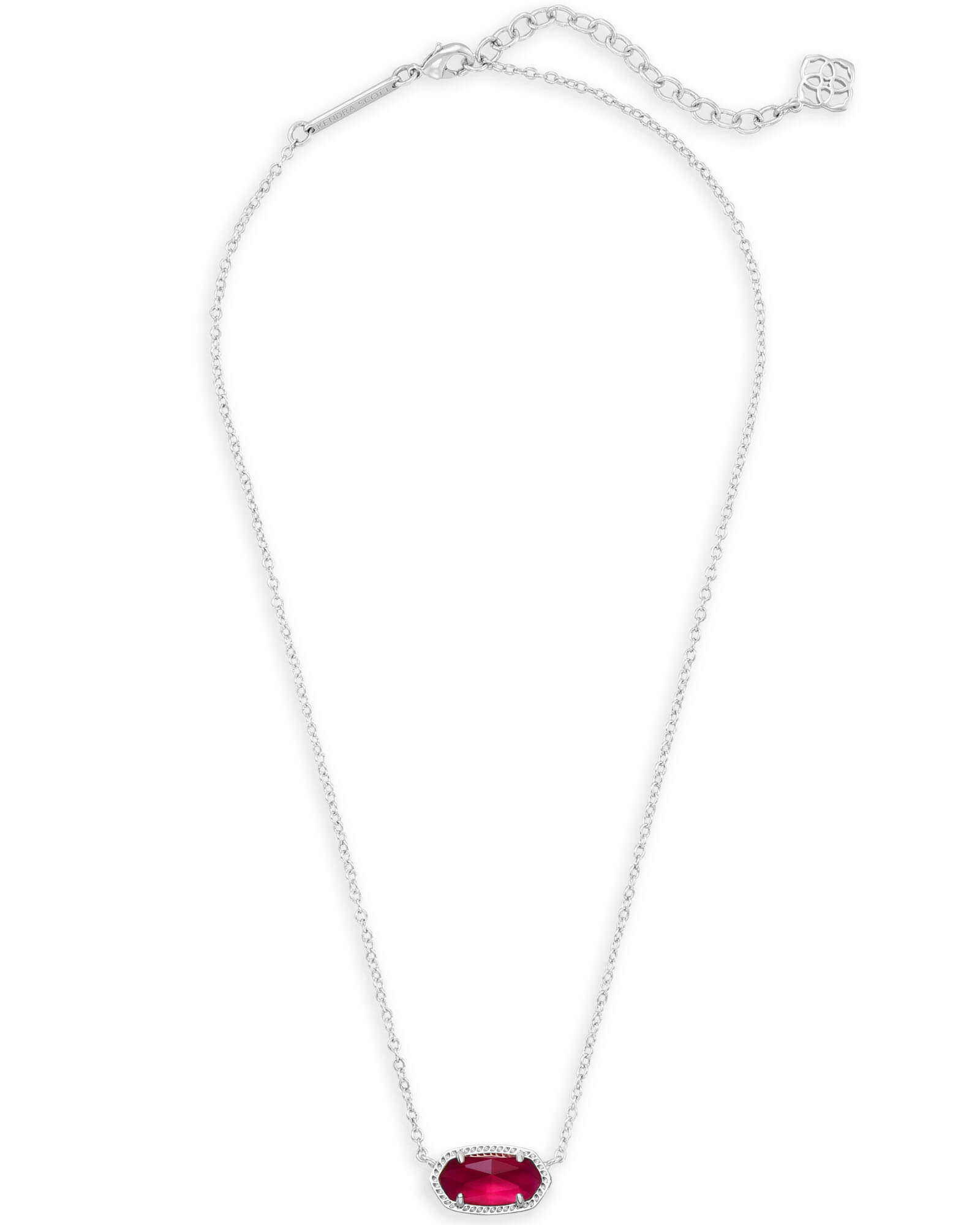 Elisa Silver Pendant Necklace in Berry Illusion