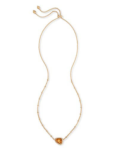 Arleen Pendant Necklace in Crushed Gold Mica