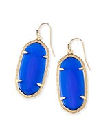 Elle Earrings in Cobalt