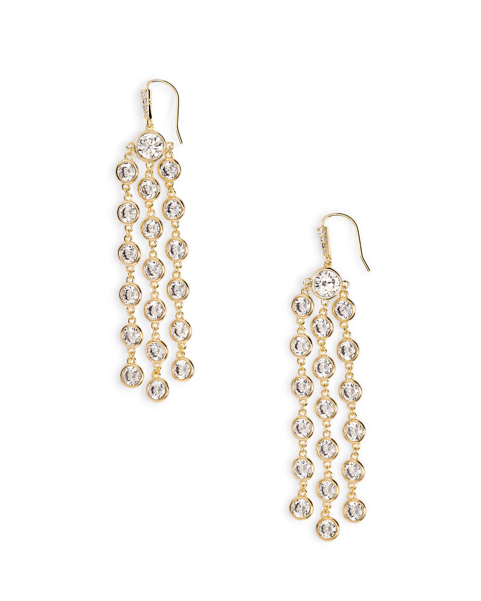 Daya Statement Earrings in Gold | Kendra Scott