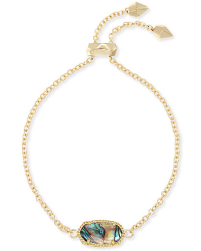 Elaina Gold Chain Bracelet in Abalone Shell
