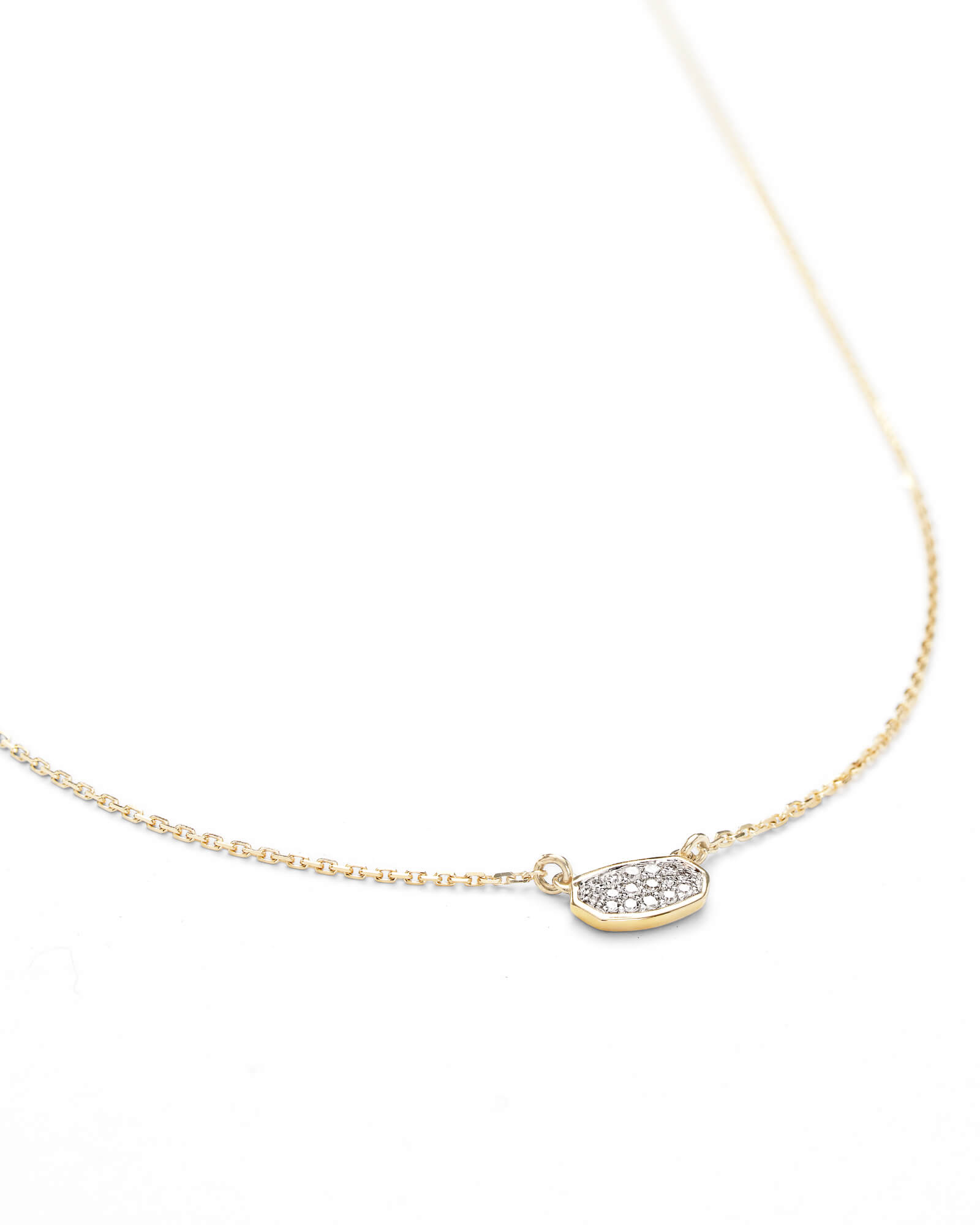 Marisa Pendant Necklace in White Diamond and 14k Yellow Gold