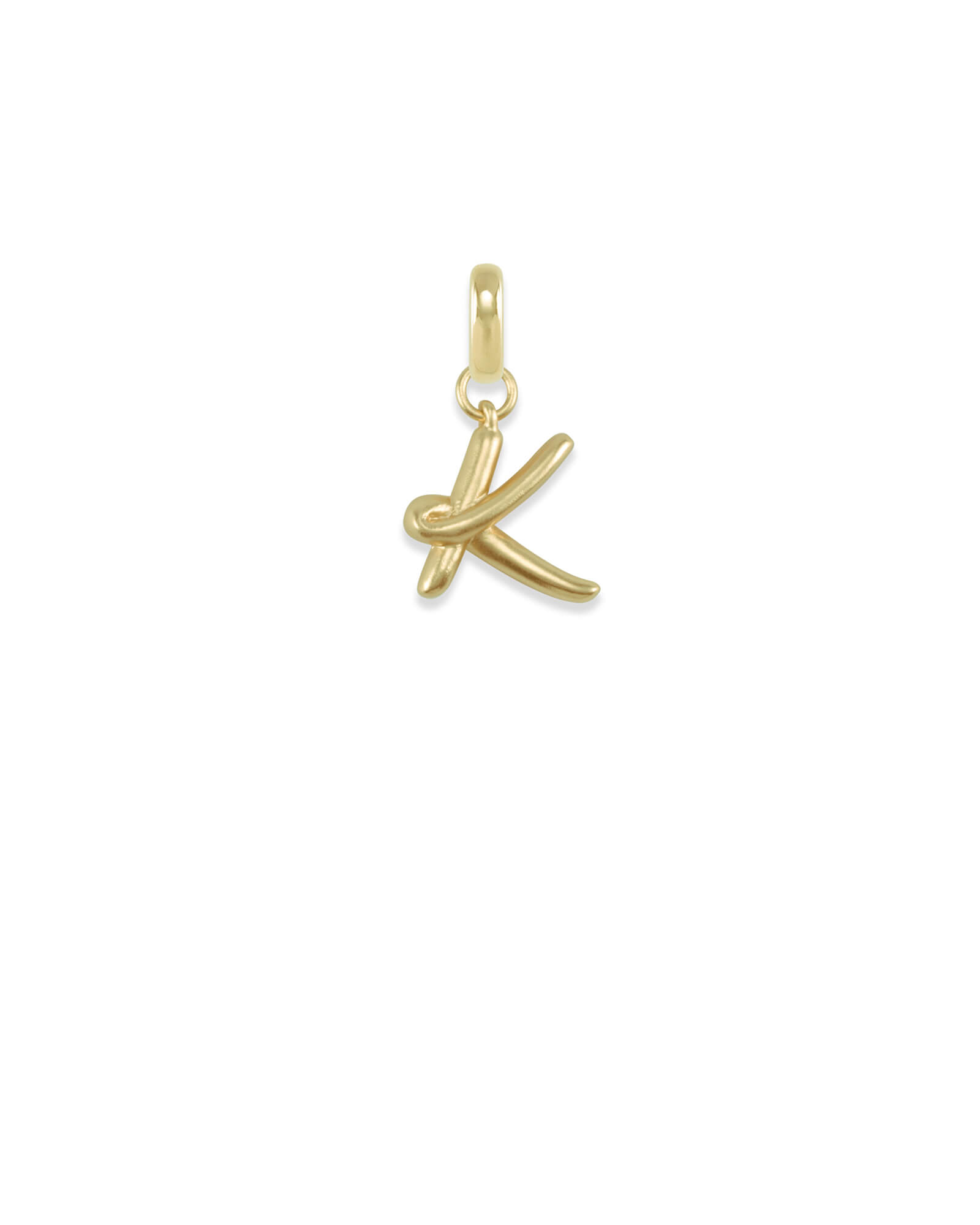 Letter K Charm in  Gold