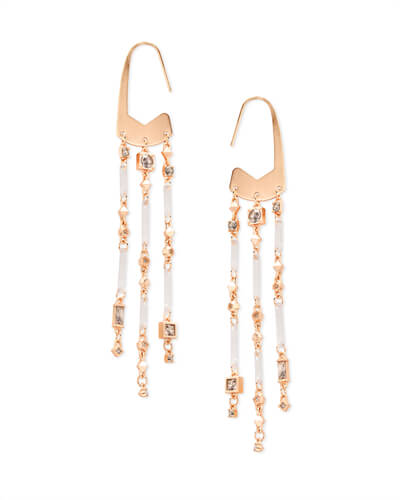 Corza Rose Gold Statement Earrings in Blush Mix