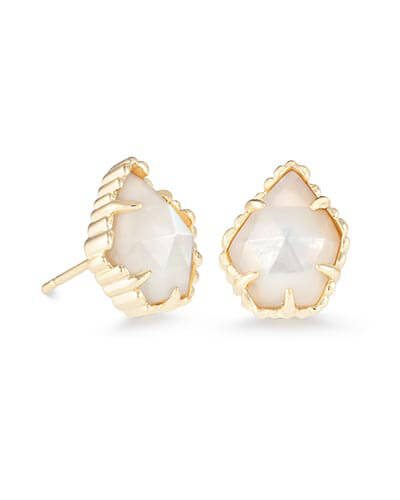 Tessa Stud Earrings in Ivory Pearl