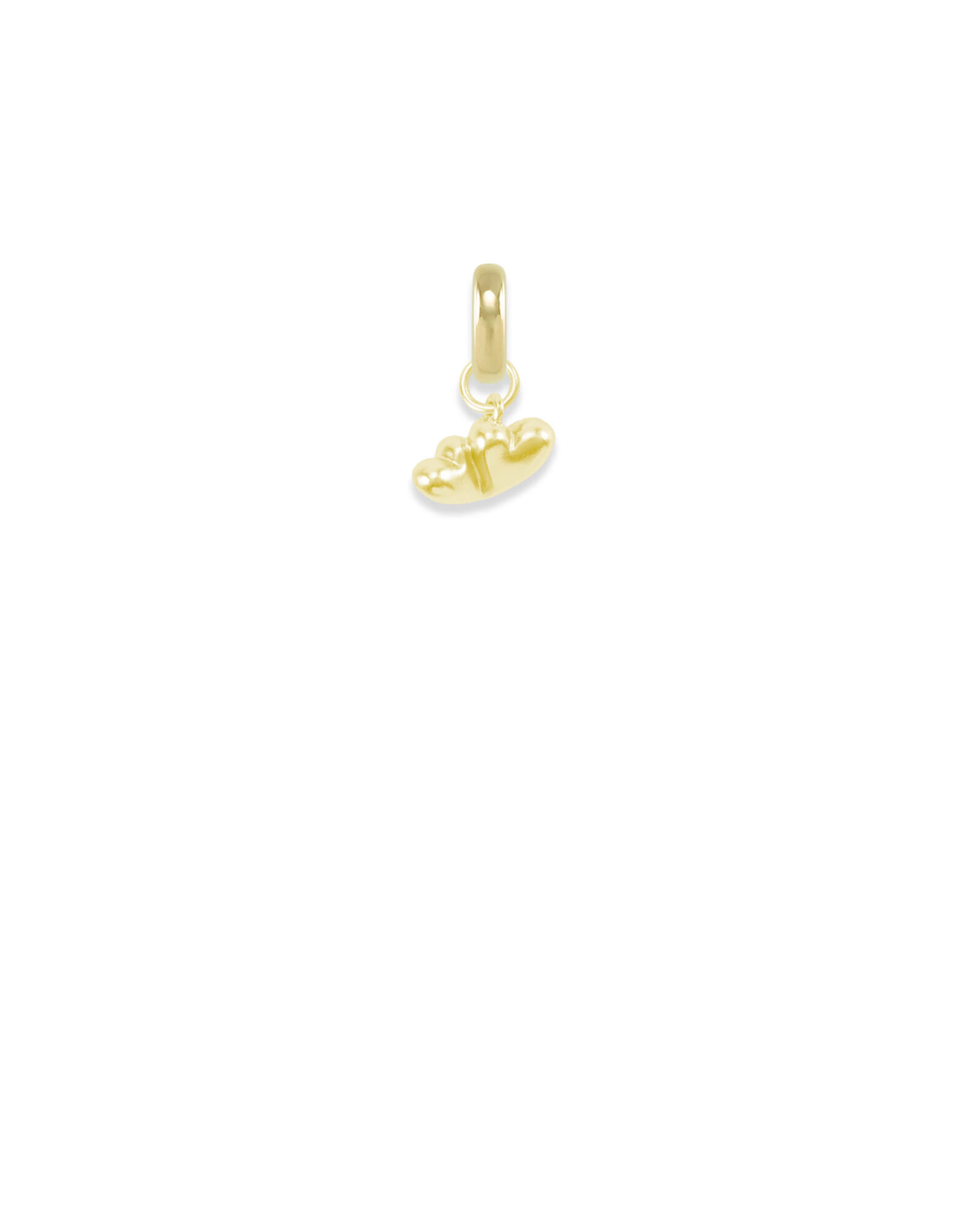 Virginia Two Hearts Charm in Gold