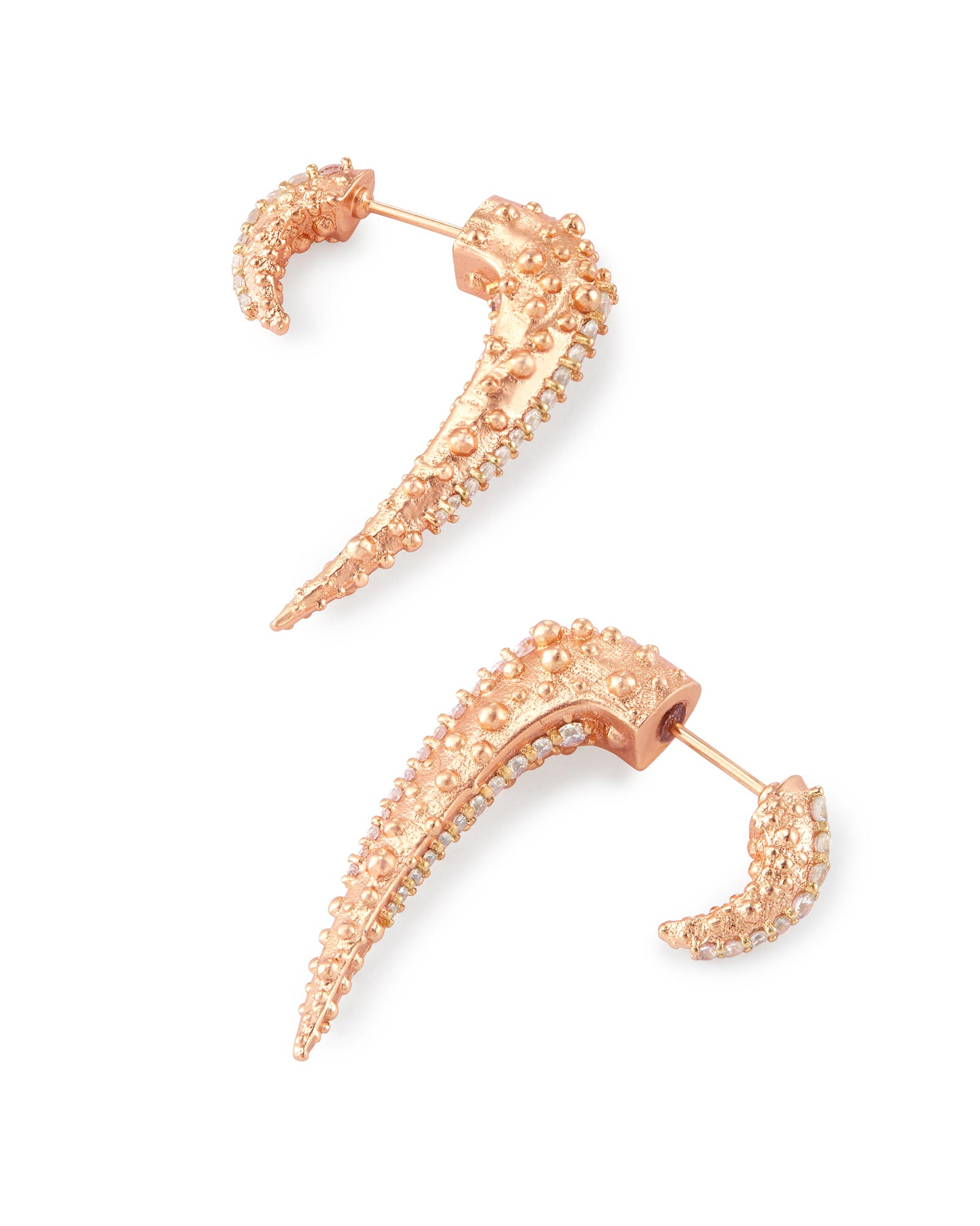 Sera Ear Jackets in Rose Gold