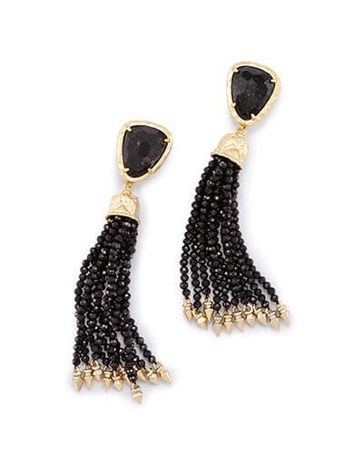 Blossom Statement Earrings in Black Granite