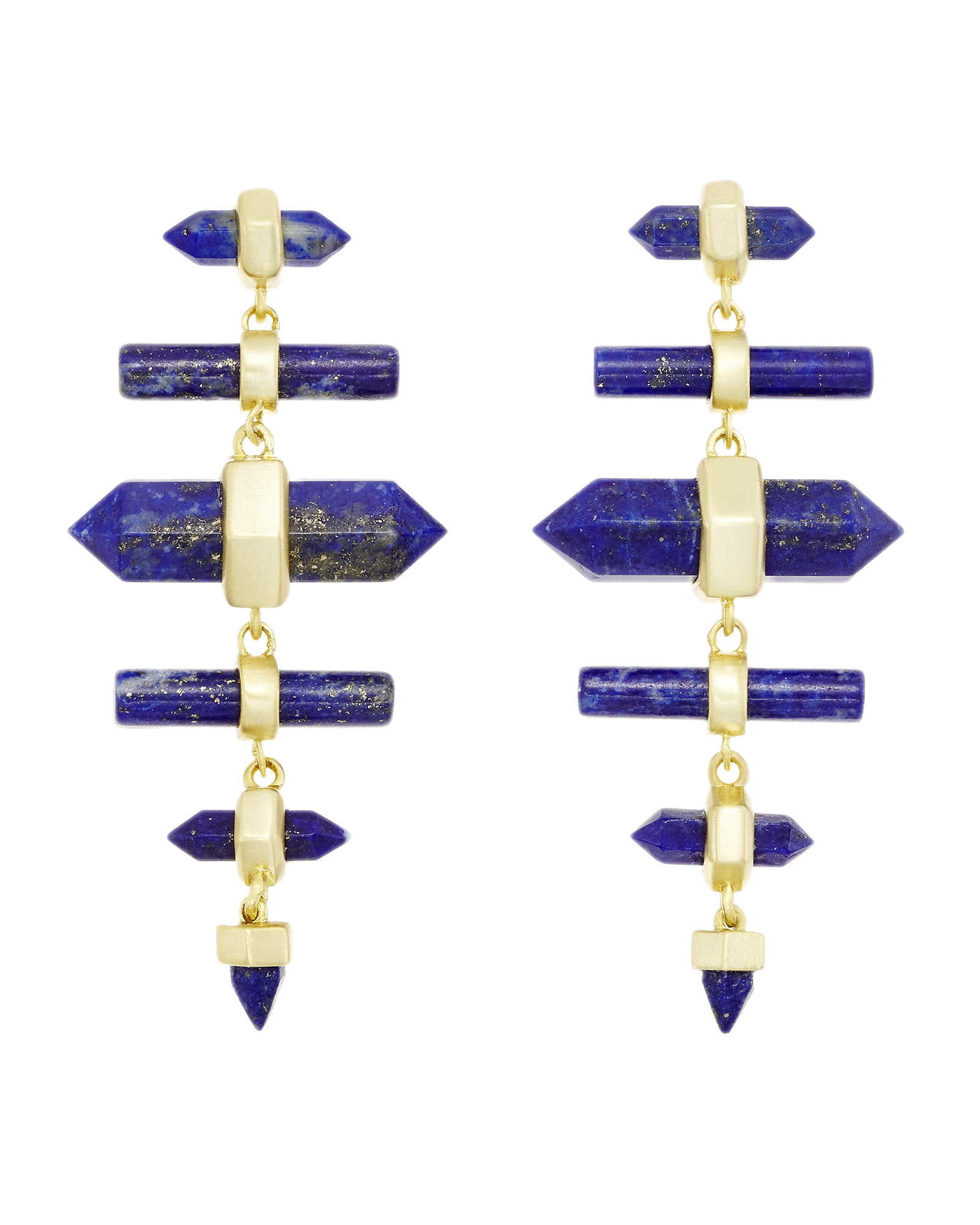 Talia gold chandelier earrings in blue lapis kendra scott talia earrings in lapis arubaitofo Images