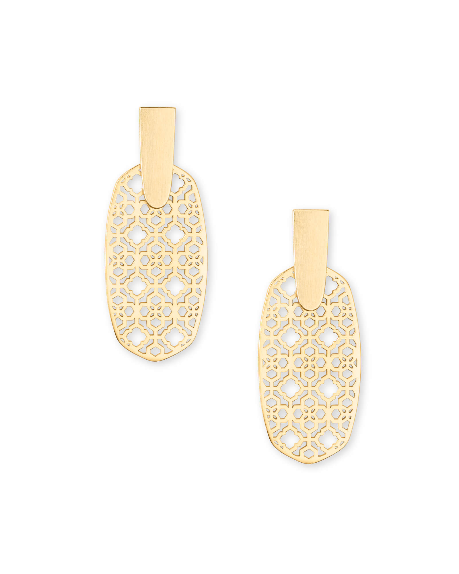 Aragon Gold Drop Earrings in Gold Filigree