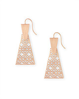 Keerti Drop Earrings in Rose Gold Filigree