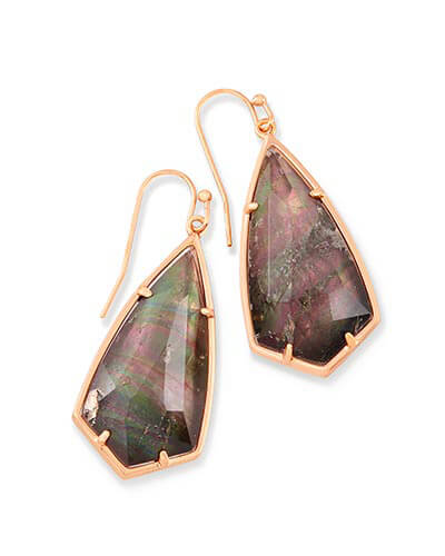 Carla Drop Earrings in Crystal Gray Illusion