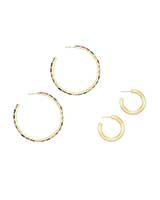 Thora & Colette Hoop Earrings Gift Set in Gold