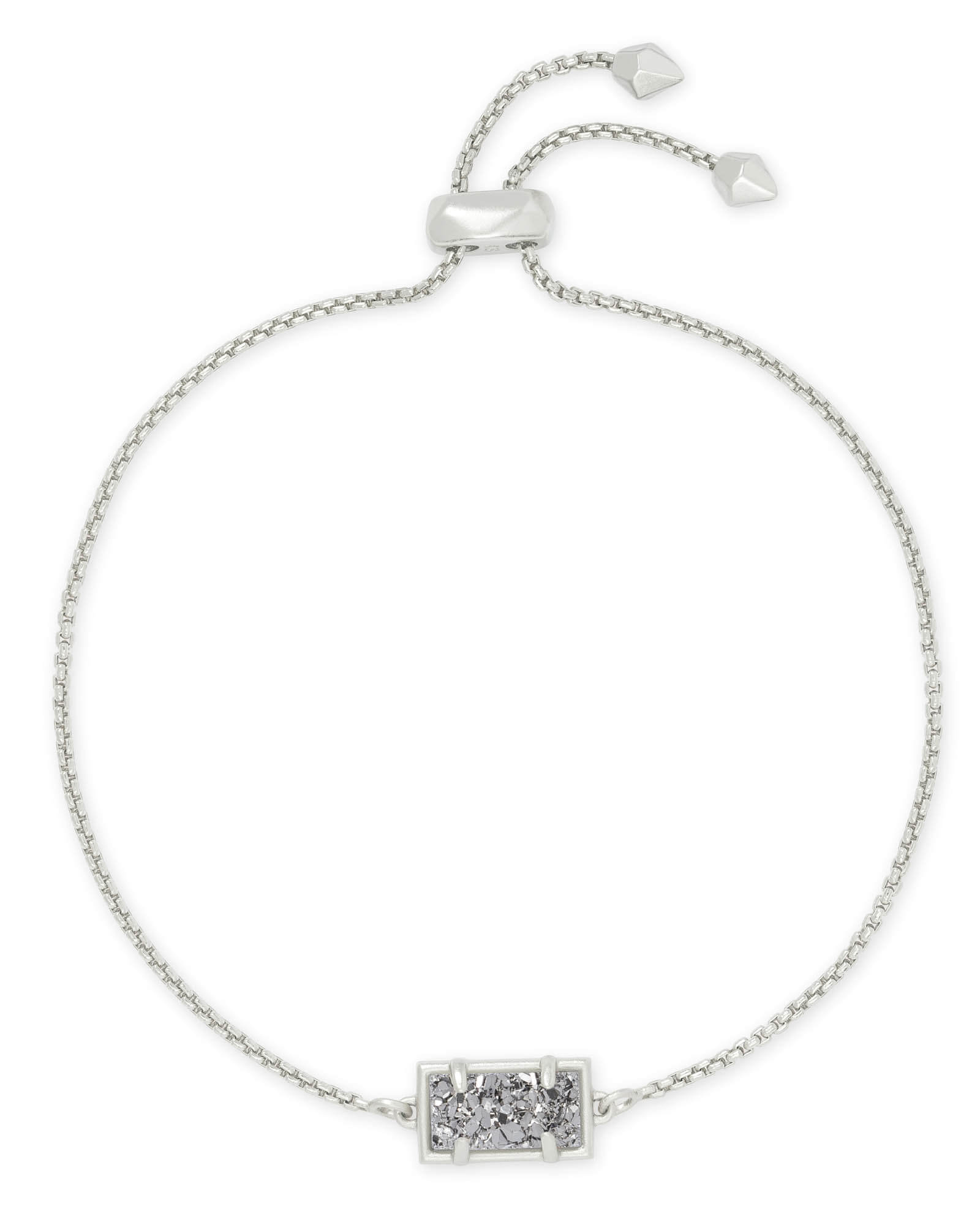 Phillipa Silver Chain Bracelet in Platinum Drusy