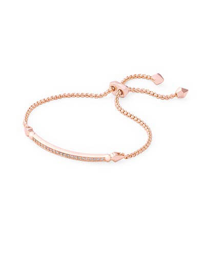 Ott Adjustable Chain Bracelet in Rose Gold