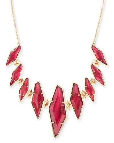Berniece Collar Necklace in Burgundy Illusion