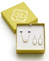 Dani Earrings and Elisa Necklace Gift Set in Gold