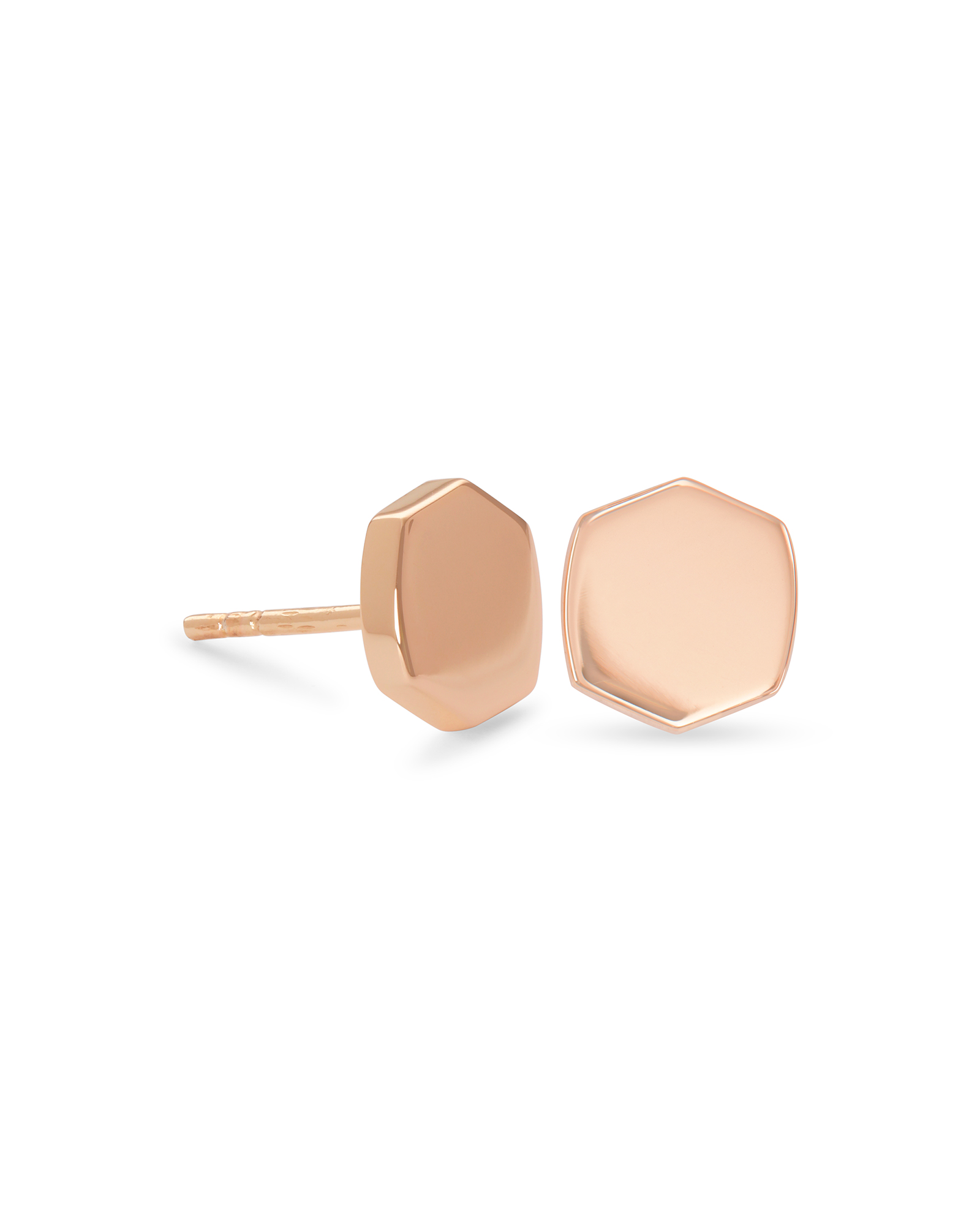 Davis Stud Earrings in 18k Rose Gold Vermeil