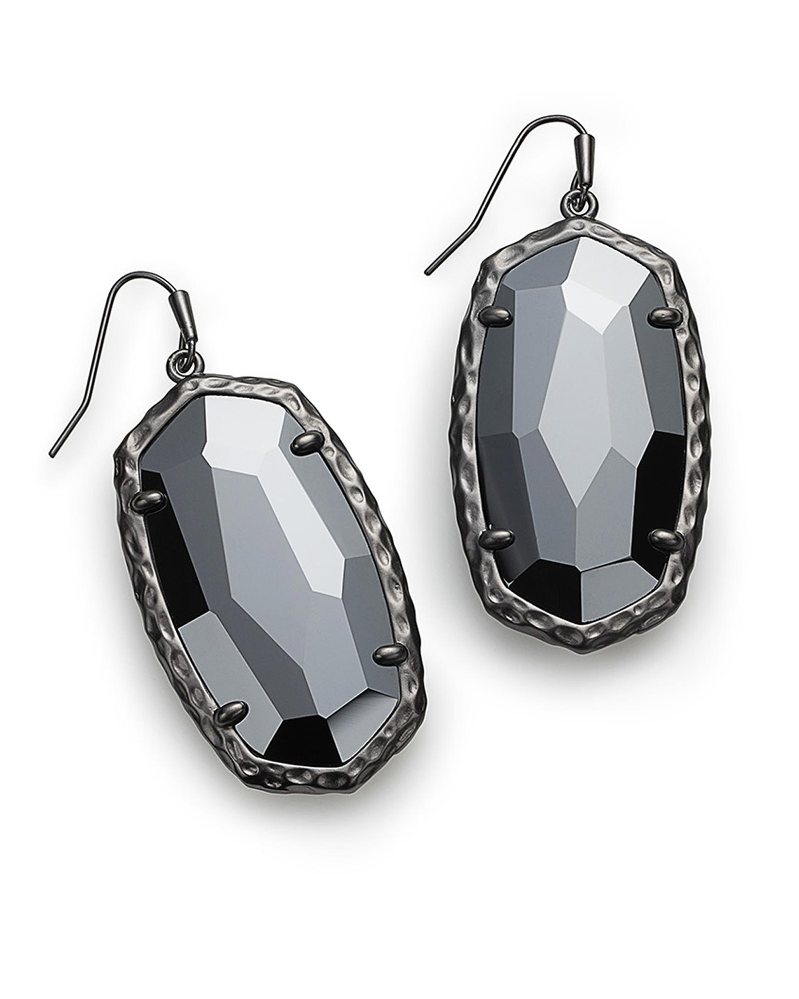prod wire silver wrapped sterling hematite earrings ourshop