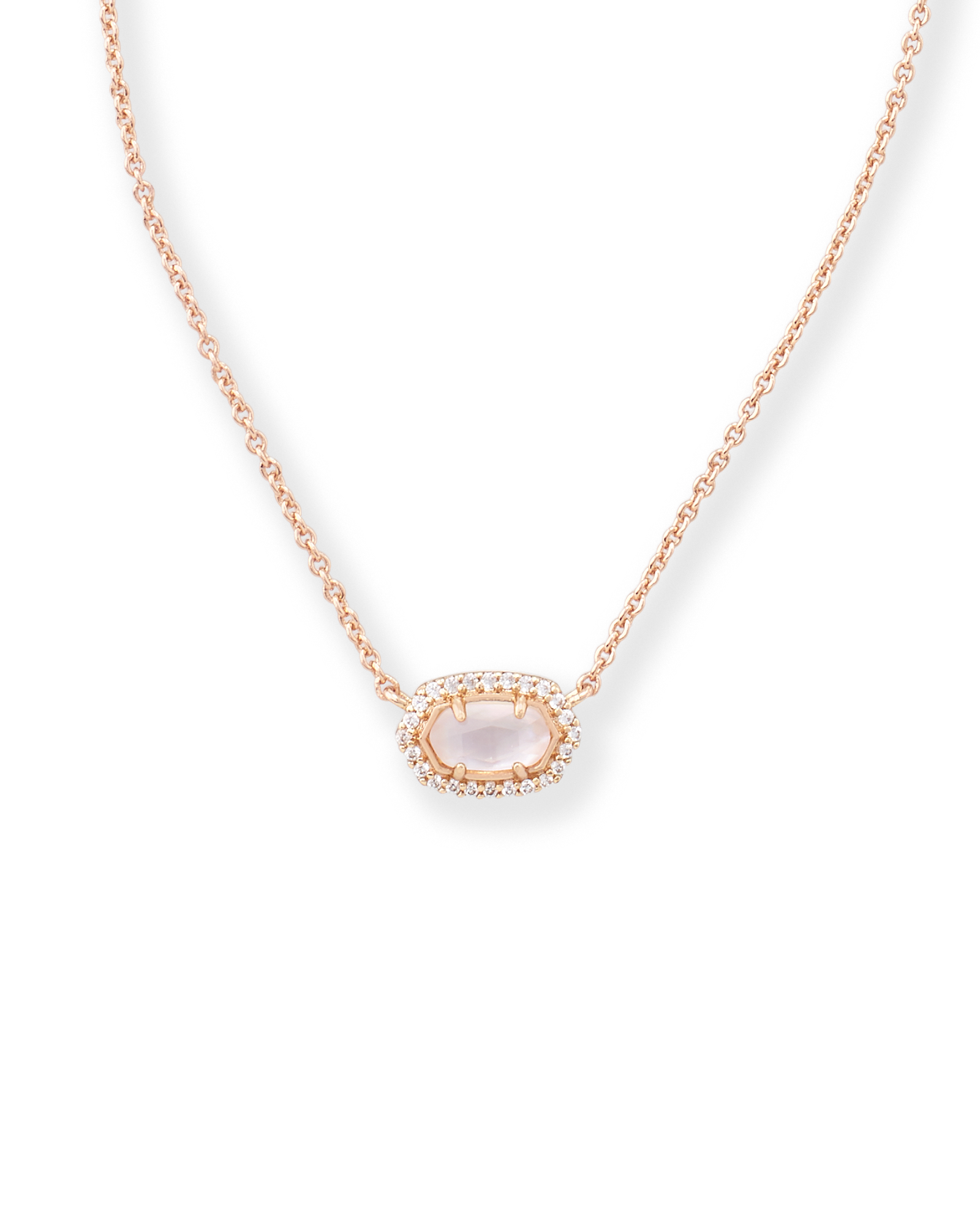 Flower Girl Pendant Necklace in Rose Gold