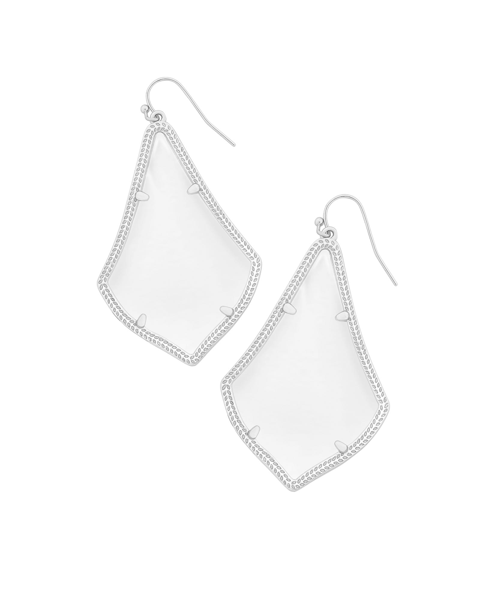 Alexandra Statement Earrings in Silver